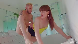 Natalie Mars Gets Pumped by Big White Guy