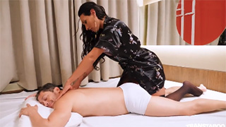 Lovely Shemale Masseuse Seduces and Gives an Amazing Sex Massage