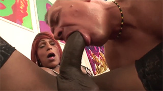He Always Dreamed About Sucking Big Black Shemale Cock