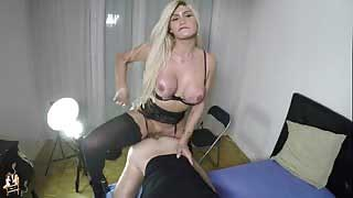 Ts Model Agatha Lira Hot Blondie Fucking Her Partner