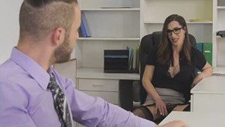 Busty Tranny Manager Seduces Employee