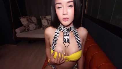 Dirty Thai Ladyboy In A Lingerie Fucks And Sucks