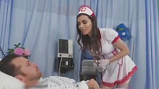 Gorgeous Ts Nurse Takes Care Of Everything