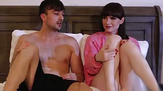 Petite TS beauty Natalie Mars Gets Analed in Bed